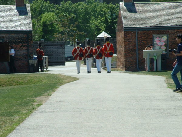Officers March at Fort York