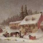 The Blacksmith's Shop by Cornelius Krieghoff