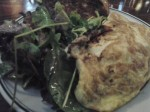 Omelette with Asiago Cheese & Mushrooms, Mixed Greens and Toast