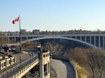 Rainbow Bridge from Canada to U.S. at Niagara Falls
