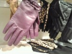 Purple leather gloves from Banana Republic