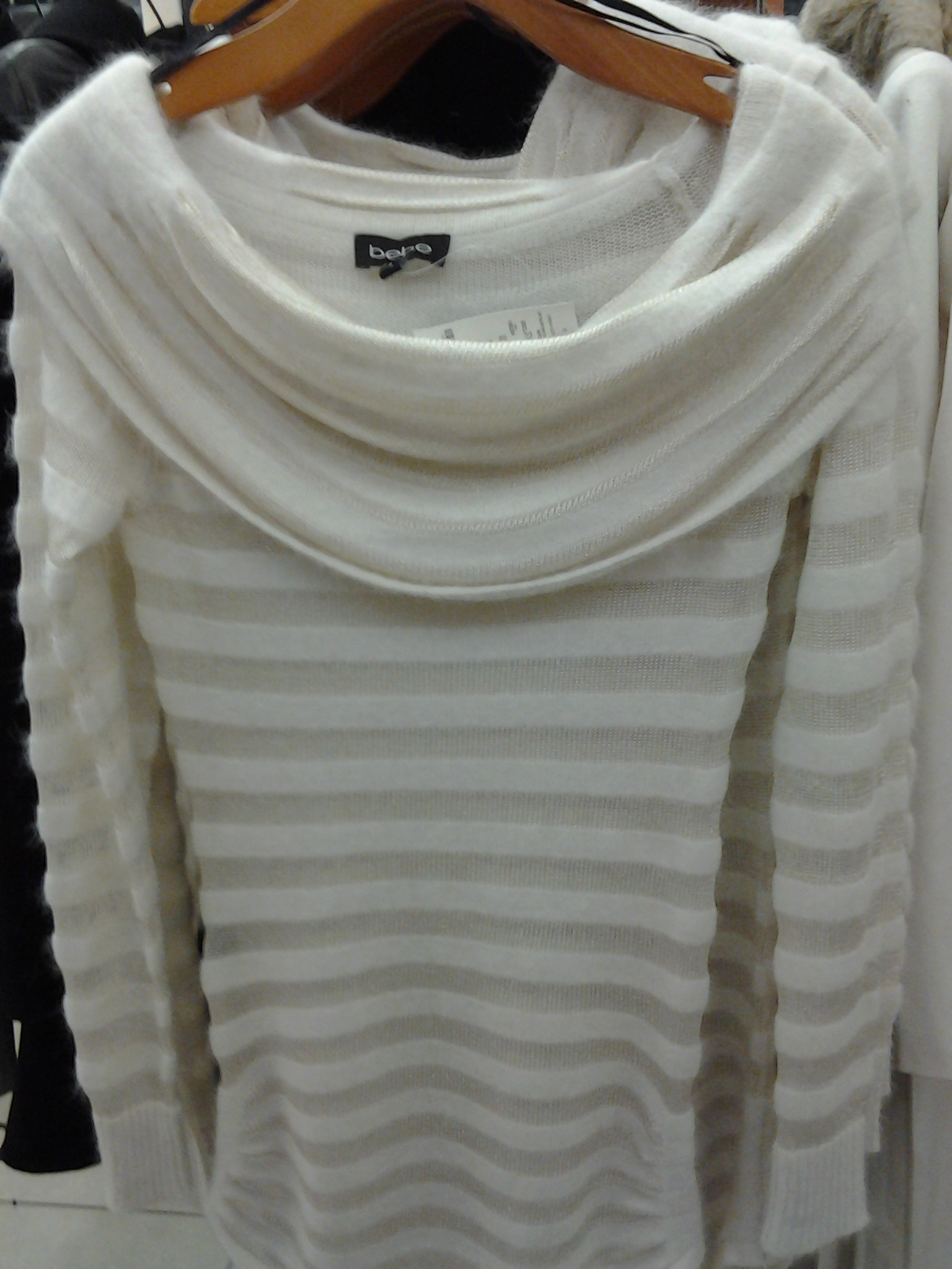 Dressy white sweater from Bebe