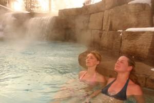 Waterfall at Scandinave Spa