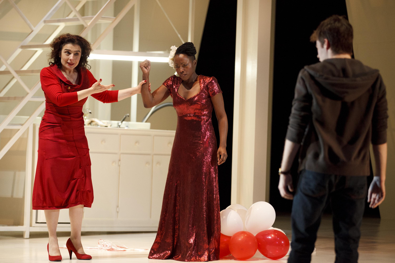 Arsinee Khanjian, Abena Malika and Jeff Lillico in Cruel and Tender, photo Bruce Zinger
