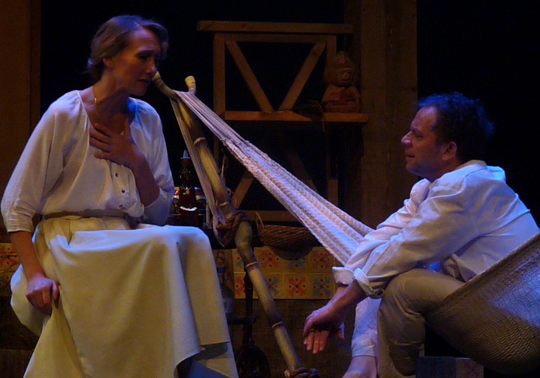 Kelly Bolt and David Ferry in Night of the Iguana, photo by Jaclyn Zaltz