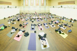 Lululemon yoga at the Design Exchange, photo Jenn Kavanagh