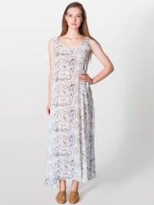 American Apparel chiffon A-line maxi dress, $76