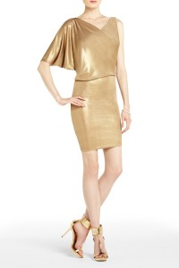 BCBG Abrial Draped One-Shoulder Tunic Dress, $138