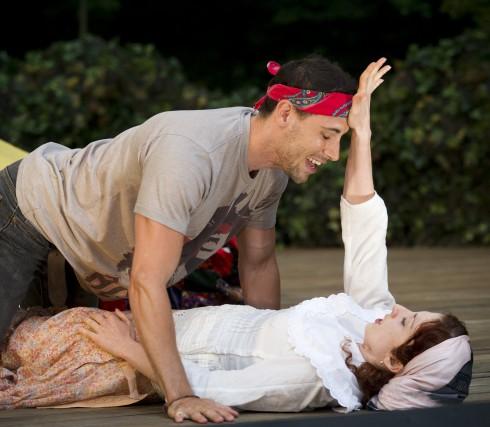 Eric Morin and Sophia Kolinas in A Midsummer Night's Dream, photo Chris Gallow