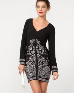 Le Chateau Border Print Knit Tunic, $110