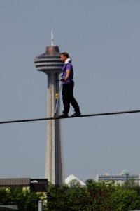 Nik Wallenda practicing for June 15 attempt to cross the Falls, photo bobc1369