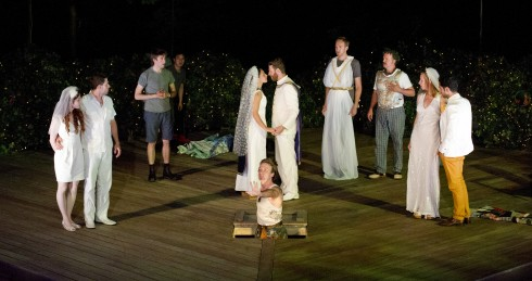 The cast of Shakespeare in High Park's Midsummer Night's Dream, photo Chris Gallow