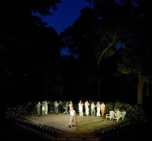 The cast of A Midsummer Night's Dream, photo Chris Gallow