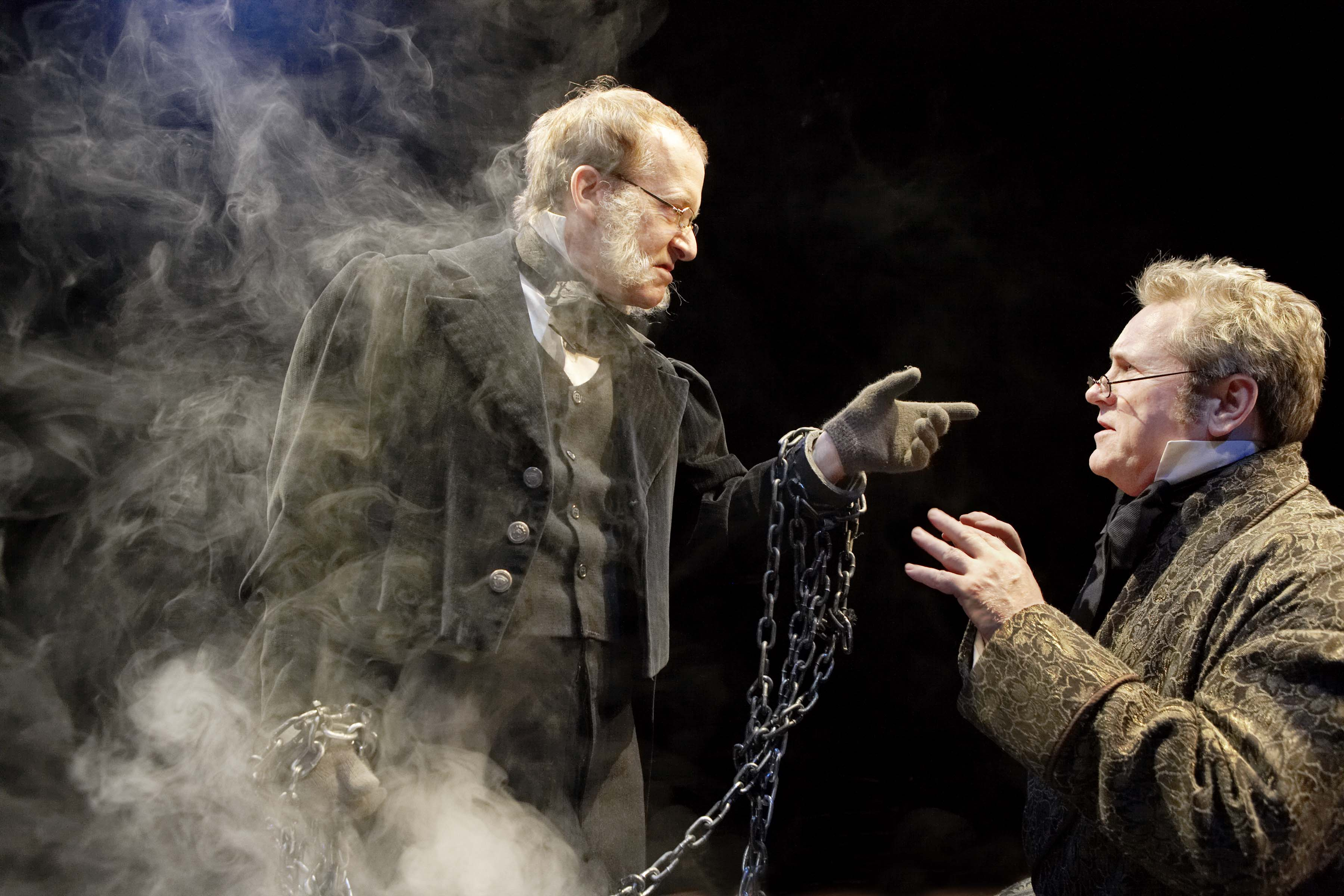 John Jarvis and Joseph Ziegler in Soulpepper Theatre's A Christmas Carol