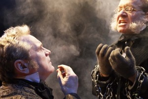 Joseph Ziegler and John Jarvis in Soulpepper Theatre's A Christmas Carol