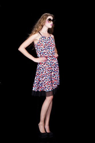 Cezah dress in polyester and spandex from Dinh Ba Design, $160