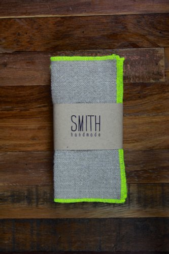 Six linen cocktail napkins from Smith Handmade, $20