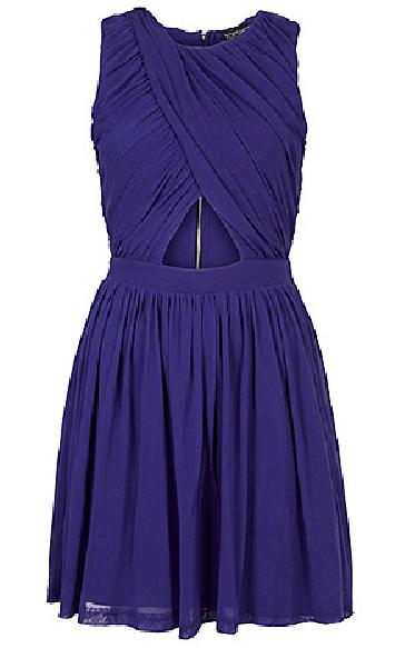 TopShop Wrap Cobalt Blue Skater Dress from Hudson's Bay, $84