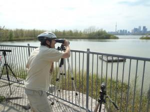Birdwatching at Embayment D, photo Toronto & Region Conservation