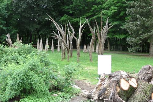 """Stooks & Punes"" installation by W. Gary Smith"
