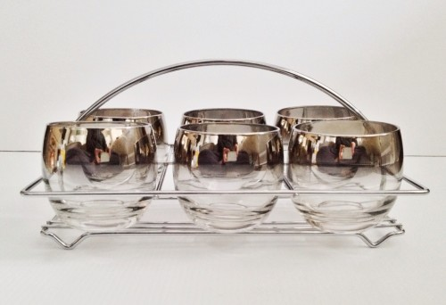 Retro glass set from Bragg and Bee