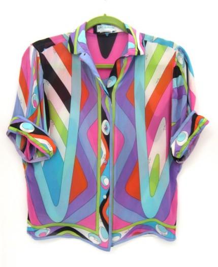 Vintage silks Pucci shirt from Samantha Howard Vintage
