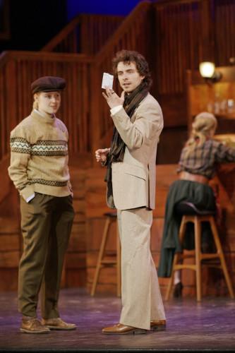 Darcy Gerhart as Viola Cesario, Liam Volke as Duke Orsino, photo Scott Gorman