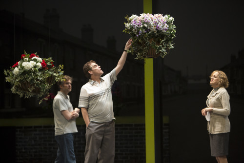 Ben Carlson, Shawn Wright and Fiona Reid in Canadian Stage's London Road, photo David Hou