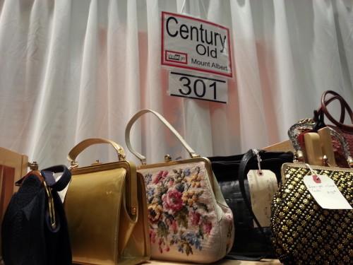 Handbags at Toronto Vintage Clothing Show, photo Sharilene Rowland
