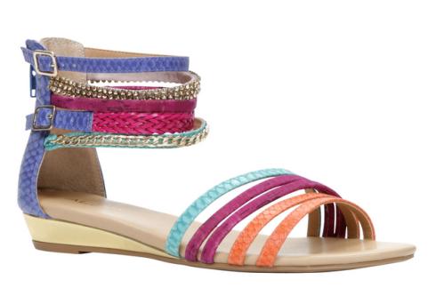 Multi-coloured Leady sandals at Aldo, $60