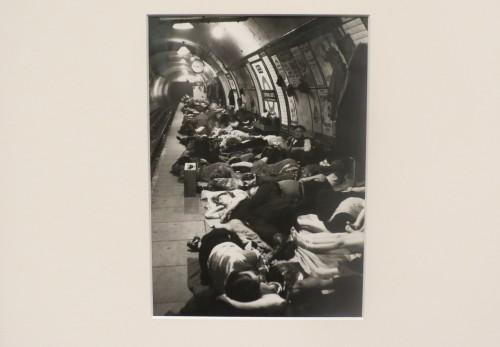 London residents take shelter in underground station, photo copyright Bill Brandt