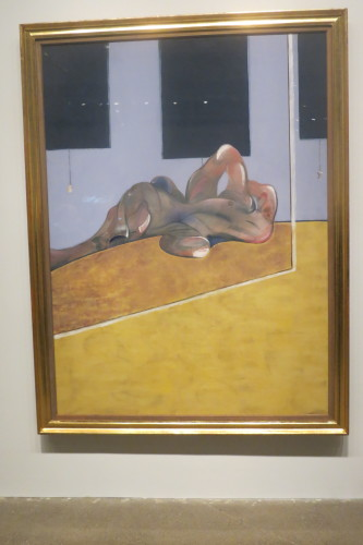 Lying Figure in a Mirror, 1971, oil on canvas by Francis Bacon
