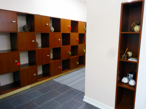 Beautiful change rooms with lockers at Mindful BodyWorks, Toronto
