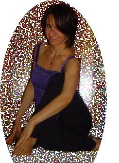 Diana Condolo in a yoga pose