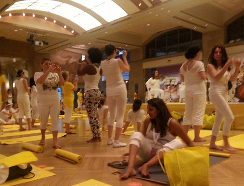 Yoga lovers at Lole White Tour at the ROM