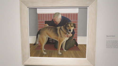 Dog and Groom by Alex Colville