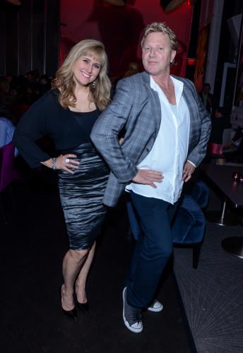Jennifer Valentyne and Steve Anthony at America Restaurant launch party