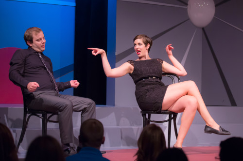 Kevin Whalen and Allison Price in Rebel Without a Cosmos