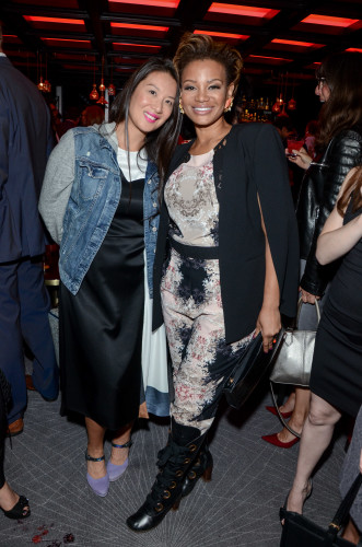 Lainey Lui and Traci Melchor at America Restaurant launch party