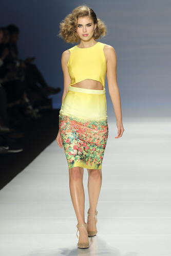 Two-piece print from Rachel Sin at World MasterCard Fashion Week