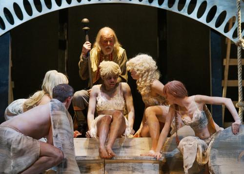 Cast of Hart House Theatre's The Tempest, photo Scott Gorman