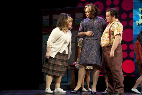Michele Shuster, Jeffrey Bowers and Mark Willett in The LOT's Hairspray, photo Seanna Kennedy