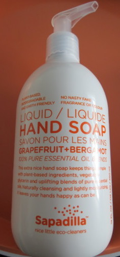 Sapadilla Liquid Hand Soap in Grapefruit and Bergamot