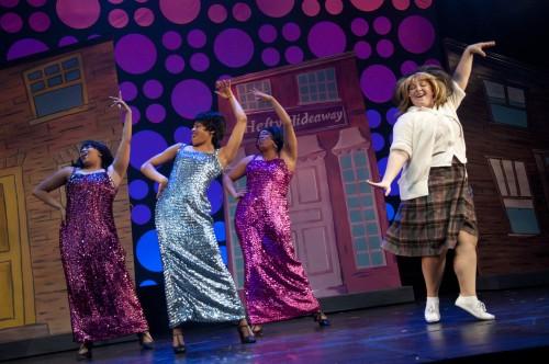 Uche Ama, Amaka Umeh, Leilani Maya Ross and Michele Shuster in Hairspray at the Randolph Theatre, photo Seanna Kennedy