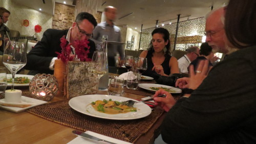 Enjoying our dinner at Hockley Valley Resort, Mono