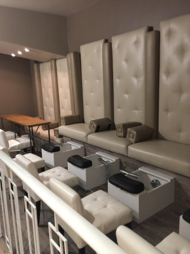 Pedicure stations at Windsor Arms Hotel Spa