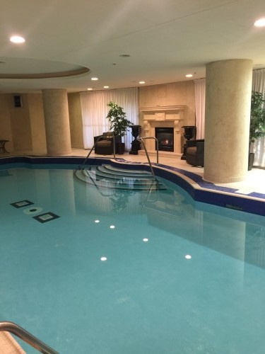 Salt water pool at Windsor Arms Hotel Spa