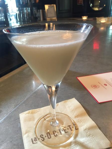 Absinthe Swiss cocktail at La Societe, Toronto