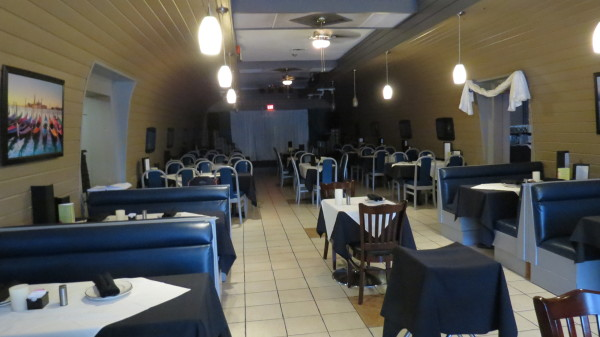 Dining room at The Kasbah Mediterranean Qsine in Niagara Falls