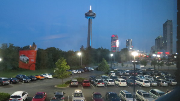 View from our room at Courtyard Marriott Niagara Falls